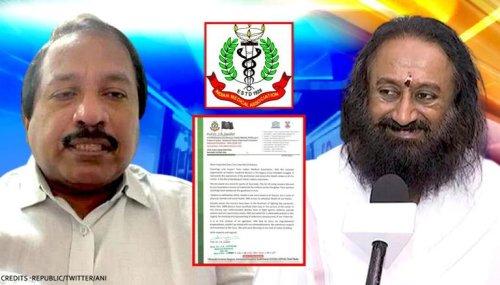 IMA writes to Sri Sri Ravi Shankar cancelling event plan; cites Baba Ramdev spat & more