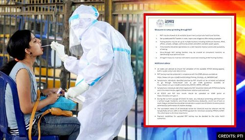 'Don't repeat RT-PCR test if person is COVID-positive': ICMR issues new testing guidelines