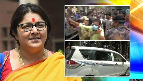 Babul Supriyo heckled, Locket Chatterjee's car attacked as phase 4 polling begins in WB