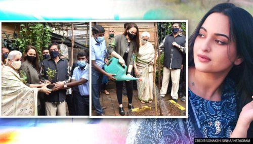 Sonakshi Sinha participates in tree plantation drive with parents, encourages to 'adopt'