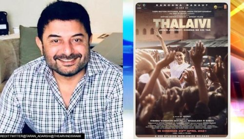 'Thalaivi': On Arvind Swami's birthday, makers release new poster of upcoming film