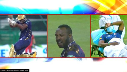 Andre Russell suffers nasty blow on helmet in PSL, taken off the field on stretcher: Video