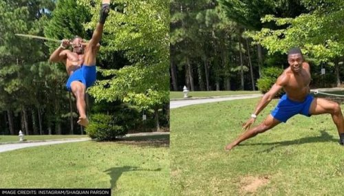 Man performs amazing stunt with sword; Netizens go gaga over his masterly act