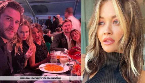 Chris Hemsworth and family attend Gold Dinner 2021; Rita Ora reacts to the pic