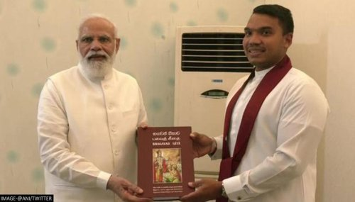 PM Modi receives Sinhala version of Bhagavad Gita gift from Sri Lanka Cabinet Minister