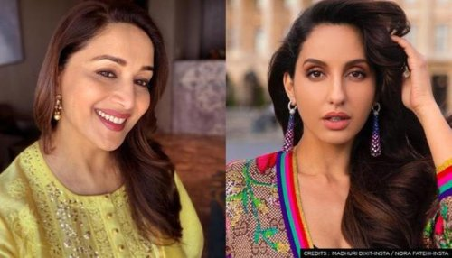 Nora Fatehi wants to star in Madhuri Dixit's biopic; dresses as Paro to pay Madhuri homage
