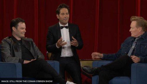 Paul Rudd pulls up a Mac & Me prank one last time on Conan O'Brien; Watch