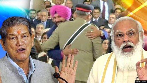 Harish Rawat defends Sidhu-Bajwa hug despite criticism; rakes up PM Modi's Pakistan visit