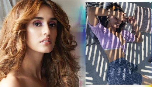 Disha Patani flaunts her curves as she basks under the sun in lavender top & floral skirt