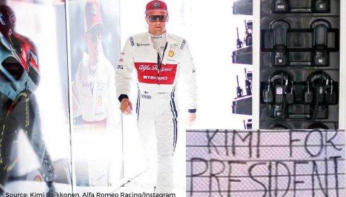 Kimi Raikkonen for president: Fans welcome Alfa Romeo racer to Imola Grand Prix 2021