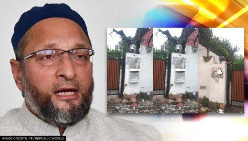 Asaduddin Owaisi's Delhi bungalow attacked & vandalised by fringe group