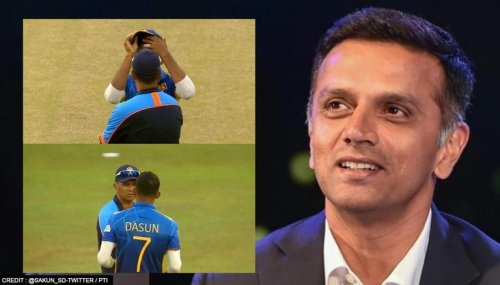Pictures of Shanaka's interaction with Rahul Dravid go viral; netizens laud sportsmanship