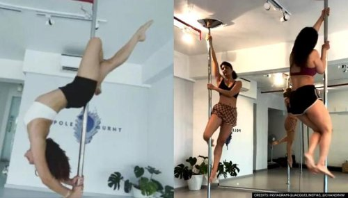 Jacqueline Fernandez back to pole-dancing after break; showcases brilliant flexibility