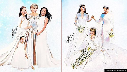 IN PICS: Malaysian artist imagines Princess Diana with royal family in emotional paintings