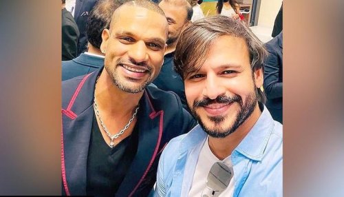 Vivek Oberoi poses with Shikhar Dhawan, asserts India 'will definitely win the World Cup'