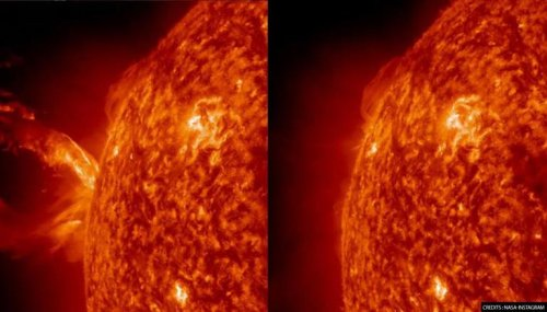 NASA shares staggering footage of 'Coronal Mass Ejection' on sun at 16,00,000 km per hour