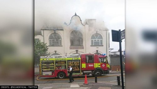 UK: 100 firefighters control 'massive' blaze at Southall Gurdwara in London