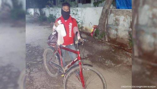 'He's inspiration': Hyderabadis raise fund to gift bike to Zomato delivery boy