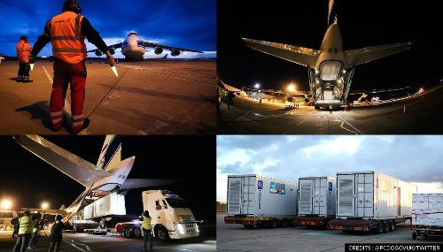 COVID-19 crisis: UK sends world's largest cargo plane to deliver 3 oxygen units to India