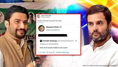 'Senior' Congress leader Nizami laughs heartily at low jibe on India; netizens say 'shame'