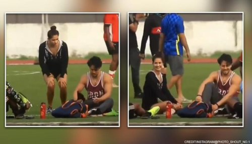 Disha Patani joins Tiger Shroff for a football match with other Bollywood stars: Watch