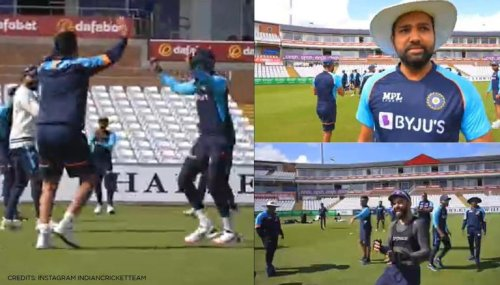 Rohit Sharma introduces 'unique' practice session game, Kohli takes it like duck to water