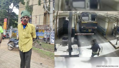Watch: Truck driver tries to run over toll plaza employee; staffer manages a narrow escape