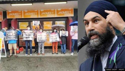 Canada: Indian diaspora in Vancouver protests against NDP leader Jagmeet Singh