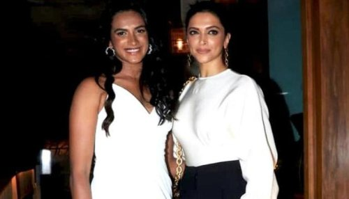 Champion PV Sindhu promptly reacts to Deepika Padukone's post-badminton glow picture