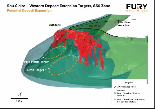 Fury to Drill Western Extension Targets at Eau Claire