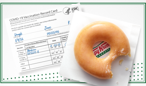 Krispy Kreme Is Giving Free Doughnuts to COVID-19 Vaccine Recipients