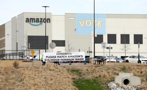 Amazon unionization drive losing by 2-1 margin in early vote results