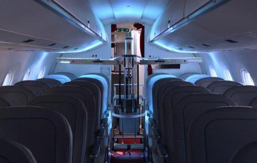 Swiss robots use UV light to zap viruses aboard passenger planes