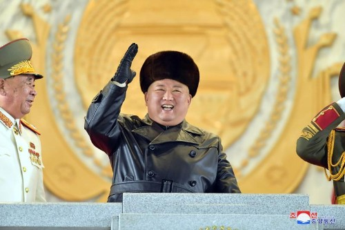 North Korea stages military parade after rare party congress - Yonhap