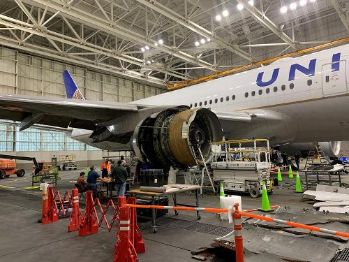United 777 plane that dropped engine parts was not due for fan blade inspection - NTSB