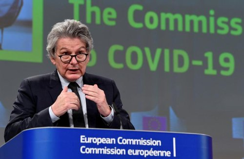 UK 'depends practically entirely' on Europe for COVID-19 vaccines - EU's Breton