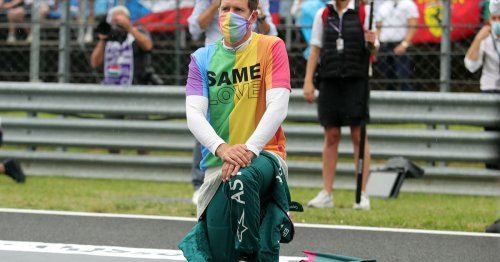 Vettel and three others reprimanded for not removing LGBTQ+ rights t-shirts before anthem