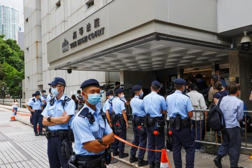 Hong Kong man jailed for nine years in first national security case