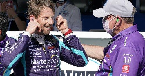 Grosjean seals first IndyCar pole position