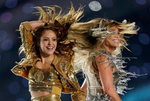 With Latin beat, J. Lo and Shakira project power of women at Super Bowl showcase