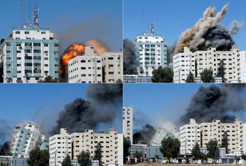 Israel destroys Gaza tower housing AP and Al Jazeera offices | Pictures | Reuters
