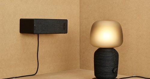 Una lámpara con música, se llama SYMFONISK y es de IKEA