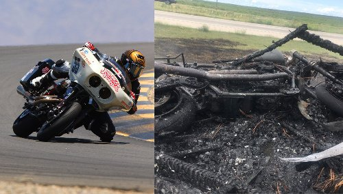 Racer-builder attempts rebuild of burned-down racing bagger in three days