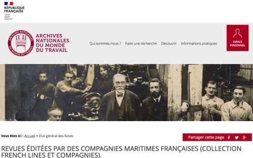 Les revues des compagnies maritimes mises en ligne par les Archives du travail