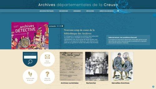 Un nouveau portail Internet pour les Archives de la Creuse