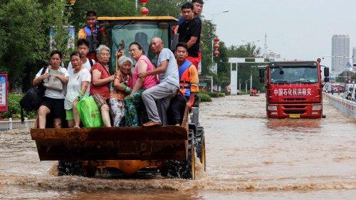 Chine: après les inondations, des villages toujours sous les eaux
