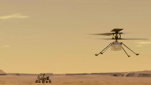 Jubilation as NASA helicopter makes first-ever powered flight on Mars