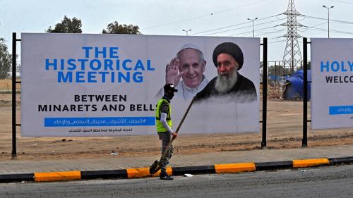 教宗會見伊拉克什葉派領袖 寫現代宗教史里程碑