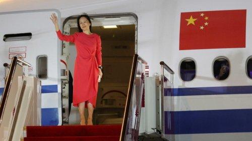 La dirigeante de Huawei accueillie en «héroïne» à son retour en Chine