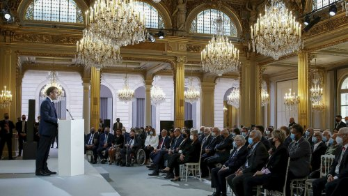 France's President Macron proposes reparation law for Algeria's Harkis